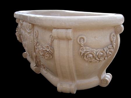 Italian Baroque Style Bathtub Hand Carved Bathtub Model