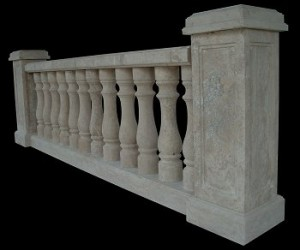 TRAVERTINE MARBLE BALUSTRADE – MODEL BL104 1