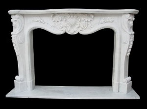 LOUIS XV MARBLE FIREPLACE – MODEL MFP106 1