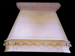 HAND CARVED, EUROPEAN, CARRARA MARBLE KITCHEN HOOD – MODEL MFP136 1