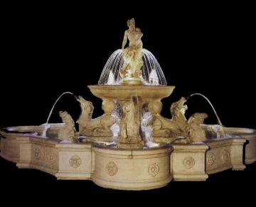 Italian Baroque White Marble Fountain Model Mf103