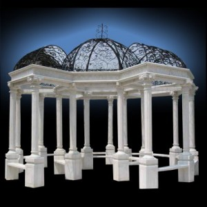 HAND CARVED EUROPEAN MARBLE ARBOR 1