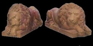 MARBLE SENTRY LIONS – MODEL MS106 1