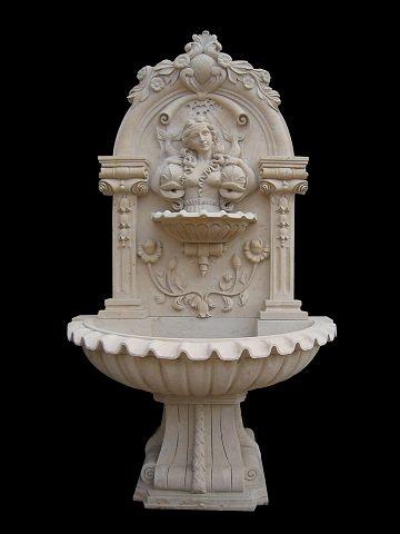 Italian Marble Wall Fountain Model Mf107 Houston Tx